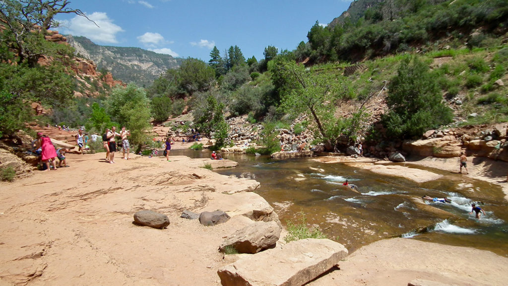 Playing at Slide Rock State Park